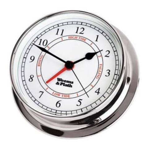 """8"""" Silver Antique Finish Round Shaped Time and Tide Clock"""