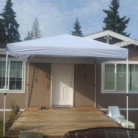 Zenova 10 x 10 Gazebo Tent Canopy Tent Pop-Up Canopy Folding Shelter for Wedding Party - 10*10