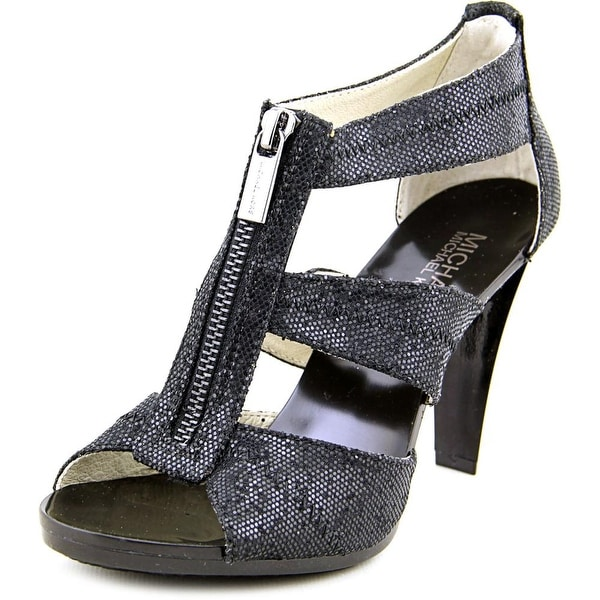 Michael Michael Kors Berkley T Strap Open Toe Canvas Sandals