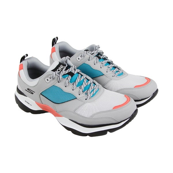 4d1ee4d03542 Shop Skechers One Vibe Ultra Mens Gray Mesh Athletic Lace Up Running ...