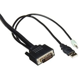 Dvi/Usb/Aud Kvm Cable, 6Ft