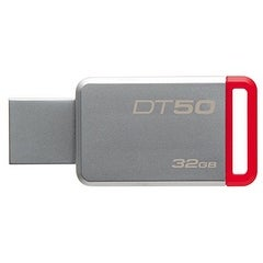 Kingston Dt50/32Gb 32Gb Datatraveler Dt50 Usb 3.0 Flash Drive (Red)