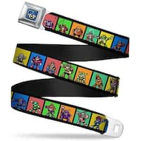 Megaman 8 Bit Face Full Color Blues Megaman 8 Bit Character Multi Color Seatbelt Belt
