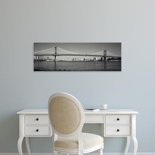 Easy Art Prints Panoramic Image 'Manhattan Bridge across the East River, New York City, New York State' Canvas Art