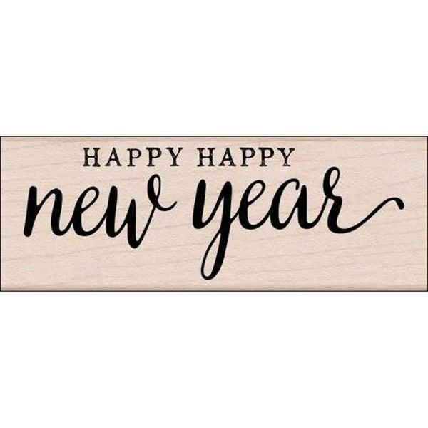 Hero Arts Wood Stamp Happy New Year