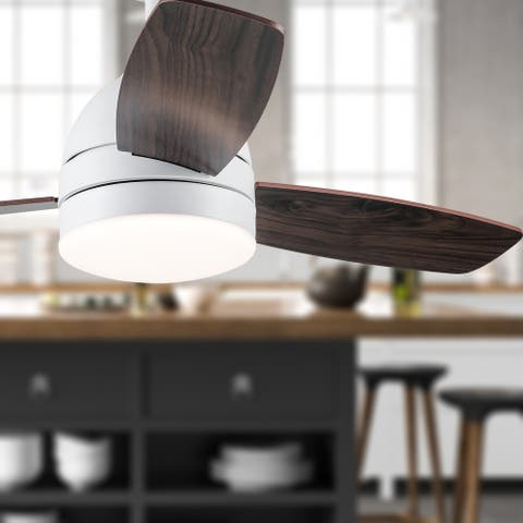 """Morgan River of Goods 42-inch LED Integrated Ceiling Fan With Light - 42"""" x 42"""" x 12""""/16"""""""