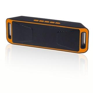 Indigi® Best Gift! Bluetooth 4.0 Portable Wireless Dual Speaker TF USB FM Radio (Orange)