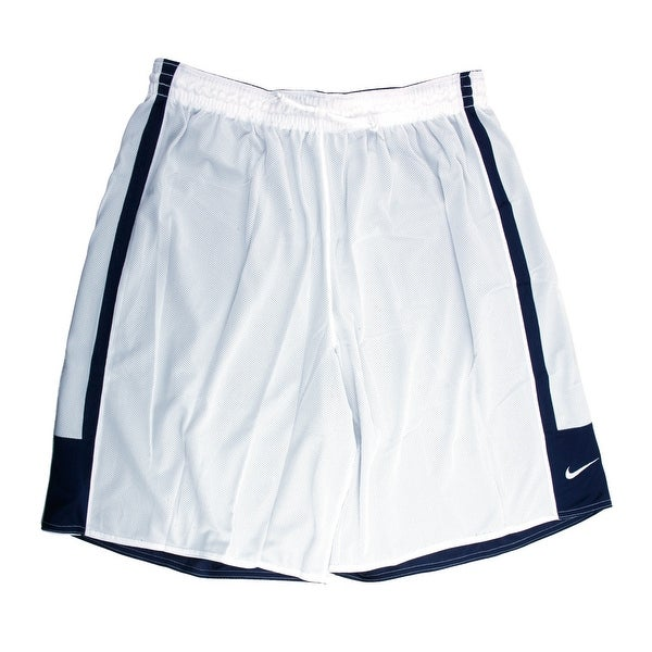 a78d15a71339 Shop Nike Dri-FIT Men s Reversible Navy White Basketball Shorts - 3X Large  - Free Shipping On Orders Over  45 - Overstock - 21293701