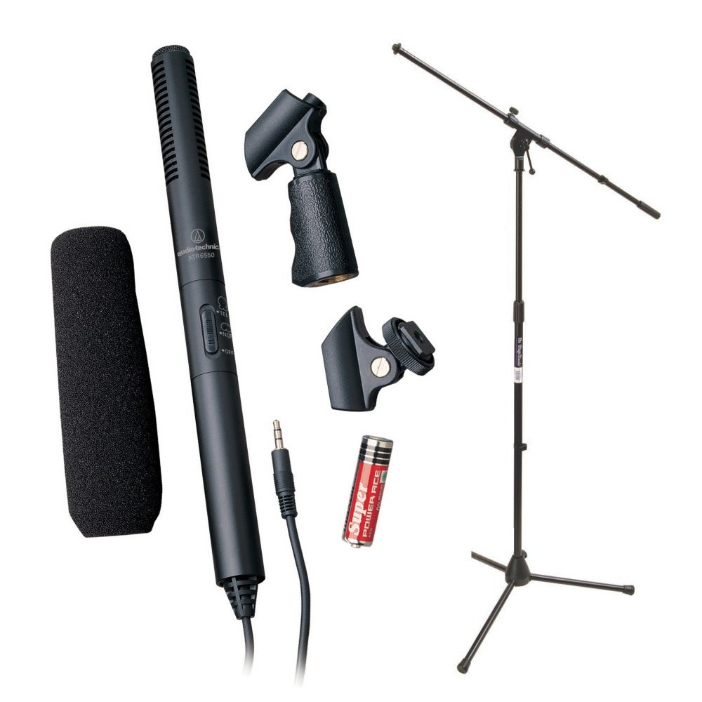 Audio-Technica ATR6550 Condenser Shotgun Microphone with Mic Stand thumbnail
