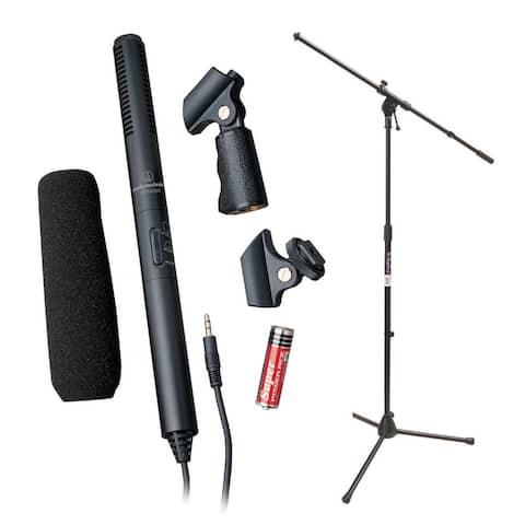 Audio-Technica ATR6550 Condenser Shotgun Microphone with Mic Stand