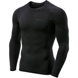 Tesla MUD11 Cool Dry Long Sleeve Compression Shirt - Black/Black