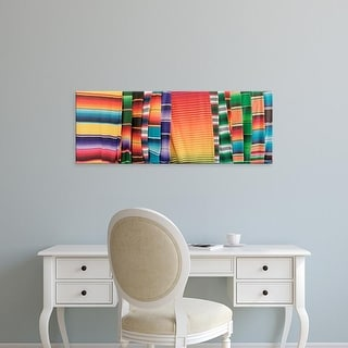 Easy Art Prints Panoramic Images's 'Hammocks, Akumal, Quintana Roo, Mexico' Premium Canvas Art