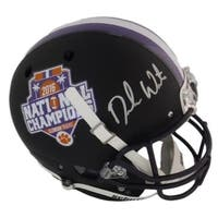 Deshaun Watson Autographed Clemson Tigers Full Size 2016 National Champions Black Replica Helmet BE