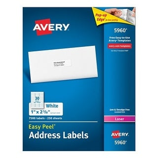 Avery Easy Peel Mailing Address Labels Easy Peel Mailing Address Labels