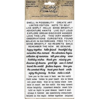 "Tiny Text - Idea-Ology Remnant Rubs Rub-Ons 4.75""X7.75"" 2/Pkg"