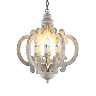 Link to 6-light Cottage Rustic Wood Chandelier Similar Items in Chandeliers