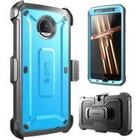 Supcase-Motorola Moto Z Case-Unicorn Beetle Pro Holster Case-Blue/Black