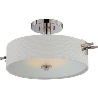 Nuvo Lighting 62/194 Claire 1 Light LED Semi-Flush Ceiling Fixture - polished nickel