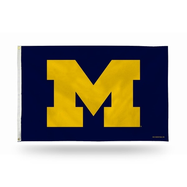 3' x 5' Blue and Yellow College Michigan Wolverines Rectangular Banner Flag - N/A
