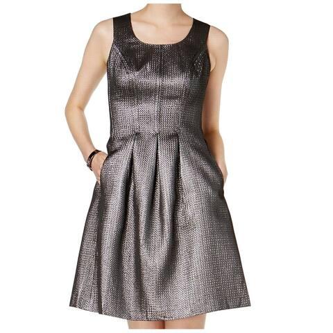 d9119100cc3 Nine West Women s Metallic Fit   Flare Pocket Dress