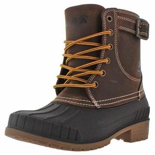 Kamik Evelyn Women's Waterproof Duck Boots Leather Snow