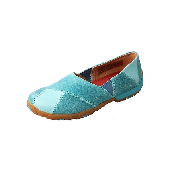 Twisted X Casual Shoes Womens Slip On Red Buckle Ocean Blue