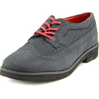 Lauren Ralph Lauren Imogen Women Wingtip Toe Leather Black Oxford
