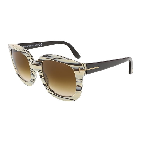 Tom Ford FT0279/S 25F Christophe Beige Brushstroke Square Sunglasses - beige bruststoke - 53-23-140