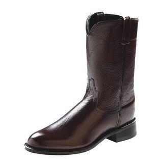Old West Cowboy Boots Mens Corona Roper Neolite Black Cherry