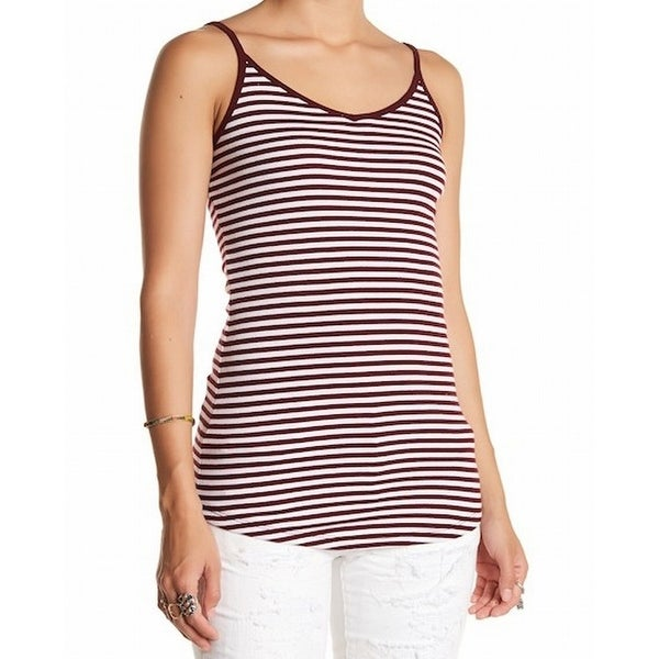 acd63710116 Shop Abound NEW Red Womens Size XXS Striped Scoop-Neck Curved-Hem Cami Top  - Free Shipping On Orders Over $45 - Overstock - 20958271