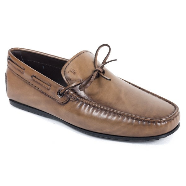 2899a6b5720f1 Shop Tods Mens Brown Gommino Leather Driving Loafers - Ships To ...
