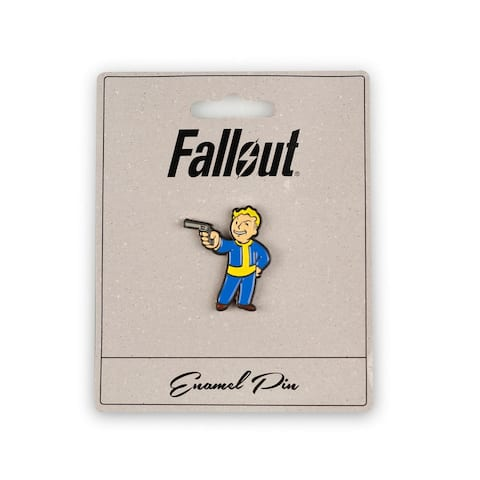 Fallout Steady Aim Perk Pin Official Fallout Video Game Small Enamel Pin - Blue