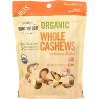 Woodstock Farms - Whole Organic Roasted& Salted Cashews ( 8 - 7 OZ)