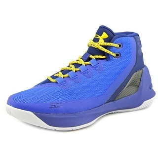 Under Armour GS Curry 3 Youth Round Toe Synthetic Blue Basketball Shoe