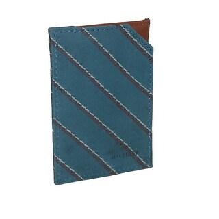Tommy Hilfiger Men's Leather School Boy Stripe Split Card Case Wallet - One Size