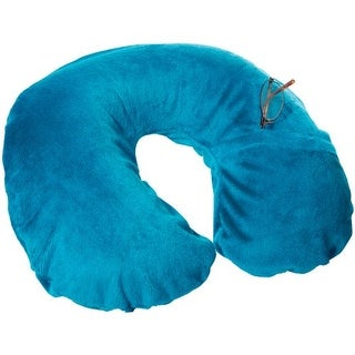 TRAVEL SMART BY CONAIR CNRTS22TEALB Travel Smart By Conair Inflatable Fleece Neck Rest/Neck Pillow