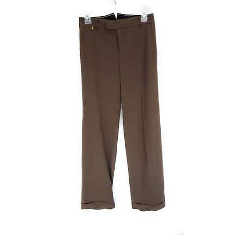 Et Vous Paris Women's Dress Pant, Brown, 34 (US X-Small)