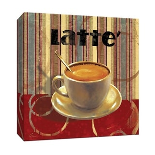 "PTM Images 9-147568  PTM Canvas Collection 12"" x 12"" - ""Latte"" Giclee Coffee, Tea & Espresso Art Print on Canvas"