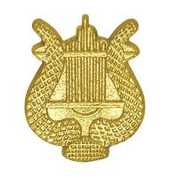 1 in. Chenille Lyre Lapel Pin, Bright Gold