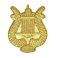 Simba CL082 1 in. Chenille Lyre Lapel Pin, Bright Gold