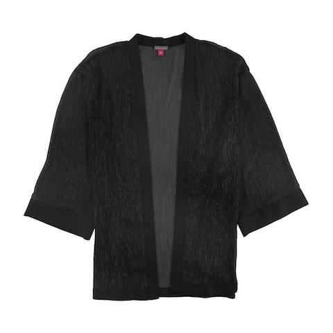 Vince Camuto Womens Stripe Kimono Sweater