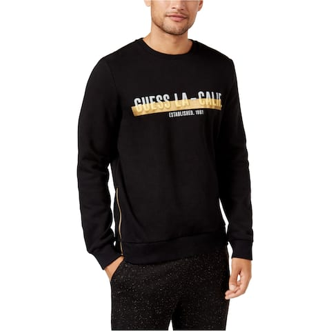 Guess Mens Metallic Logo Sweatshirt