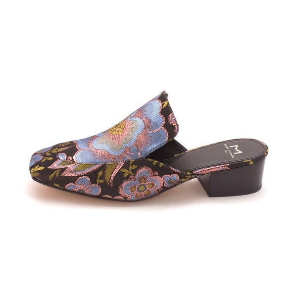 Marc Fisher Womens lailey Fabric Square Toe Casual Slide Sandals