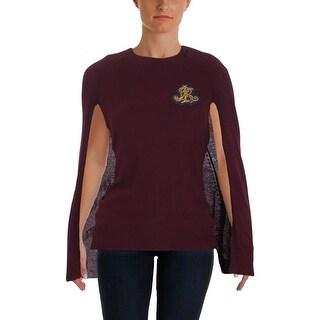 Lauren Ralph Lauren Womens Pullover Sweater Knit Ribbed