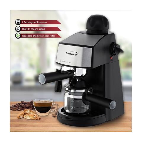 Brentwood GA-125 Espresso and Cappuccino Maker, Black