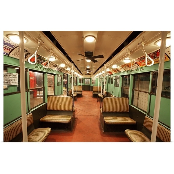 """""""R-4 City Car from 1932 exhibit at the New York City Transit Museum, Brooklyn"""" Poster Print"""