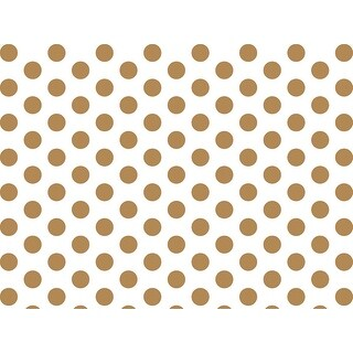 "Pack Of 120, Gold Metallic Dots Tissue Paper 20"" x 30"" Half Ream Tissue Prints For Packaging? ? 100% Recycled"