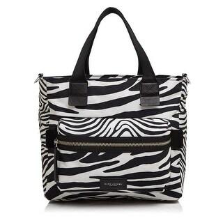 Marc Jacobs Womens Biker Diaper Bag Canvas Zebra Print