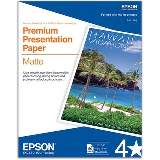 Epson Premium Presentation Paper Matte Borderless Matte Paper