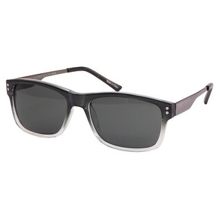 Perry Ellis Mens Plastic Sunglasses Grey Ombre Frame PE62-2, Includes Perry Ellis Pouch, 100% UV Protection